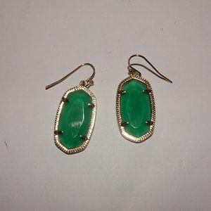 Kendra Scott Emerald Green Elle Earrings